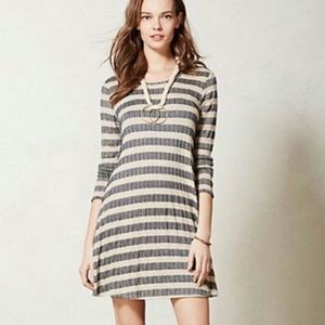 Anthro Puella Aline Swing Striped Dress Sz Medium